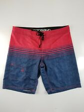 Redsand Red/Navy Blue Men's Swim Trunks/Board Shorts Size XL. 40x10""