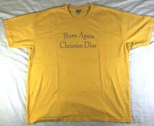Chinatown Market Christian Dior Born Again Yellow Gold Rhinestones T Shirt 2XL