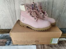 Ladies TIMBERLAND Pale Pink Waterproof Boots Uk 4 Barely Worn Boxed, Exc Con 💥