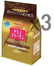 3 Gold Pack! Meiji PREMIUM Amino Collagen powder, 32days (214g) x 3 refills!