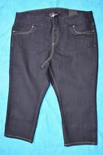 AUTOGRAPH DENIM NEW 3/4 Blue Denim Crop Pants Size 14.rrp $59.99 Stretch PULL-ON