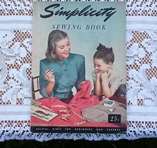 New ListingVintage 1947 Simplicity Pattern Co. Sewing Book Instructions Guide