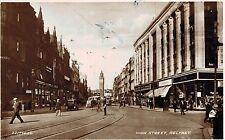 Rppc,Belfast,No.Ireland,H igh Street,Trolley Car,Used,1940