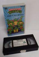 VHS VIDEO - TMHT TMNT Teenage Mutant Hero Turtles How It All Began VHS 1987 PAL
