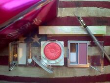 Clinique set: Blush x2 (Smoldering Plum & Peach Pop), Liner, Eyeshadow & GWP box