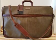 EUC HARTMANN TWEED LUGGAGE BRIEFCASE BROWN LEATHER