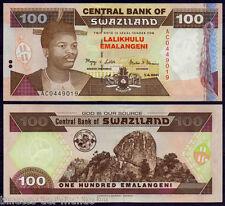 B-D-M Suazilandia Swaziland 100 Emalangeni 2001 Pick 32a SC UNC