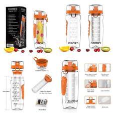 Opard Drinking Bottle 1 Litre Fruit Infuser Sports Drinking Bottle Water Bottle Tritan