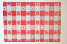 Paper Placemats 25 Pack Red Gingham Free Shipping