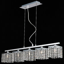TP24 6555 Metro Leyton 5 x 3W G40 LED bar suspended crystal ceiling light chrome