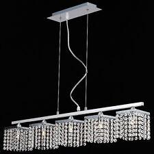 TP24 6555 Metro Leyton 5 x 3W G40 LED bar suspended crystal ceiling light chrome