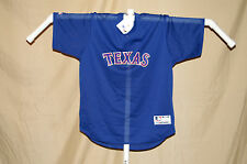TEXAS RANGERS    mesh  2 button    JERSEY   by Majestic      XL      NWT   blue
