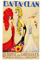 VINTAGE ART PRINT: BA TA CLAN - Jose De Zamora French Theater Dance Poster 28x40