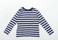 George Boys Striped Grey Top Age 10-11 Years