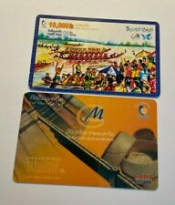 LAOS Phonecards - 2 x 10000/70000 Dial Cards USED