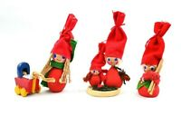 Vintage Scandinavian Christmas Elf Tomte Nisse Christmas Denmark Holline Lot 3