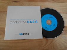 CD Pop Emmanuel Santarromana - Back in the USSR (1 Song) Promo PSCHENT cb