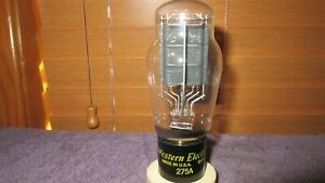 (1) Mint NOS 110% Testing Western Electric 275A  Triode Audio Tube Free Ship