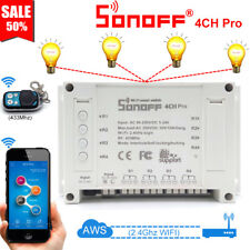Sonoff 4CH Pro R2 4 Way Mounting WiFI Wireless Smart Switch 433MHZ Remote Ctrl
