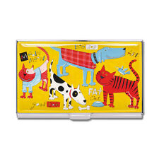 """ACME """"Cats & Dogs"""" Business Card Case by Nancy Wolff"""