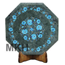 Italian Marble Side Table Inlay Coffee Table Top Gems Stones Vintage Marquetry