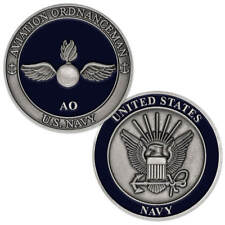 NEW U.S. Navy Aviation Ordnanceman (AO) Challenge Coin.