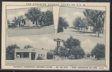 Postcard TUCSON Arizona/AZ  Sunshine Tourist Motel Motor Court Tri-view 1930's