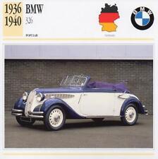 1936-1940 BMW 326 Classic Car Photograph / Information Maxi Card