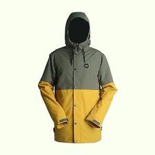 RIDE Snowboards Men's HAWTHORNE Snow Jacket - Gunmetal/Gold - Medium - NWT