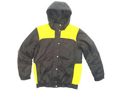 Adidas Winterjacke Jacke Blau Gelb Herren Größe M
