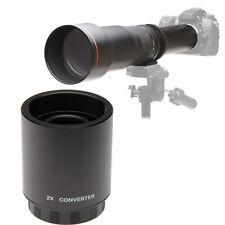 Jintu 2X Teleconverter Lens F T-Mount Mirror 500mm 900mm 420-800mm telephoto len