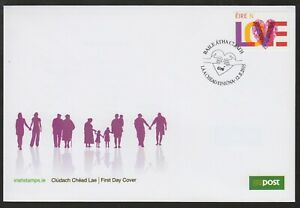 Ireland 2015 FDC Greetings Stamp - Love