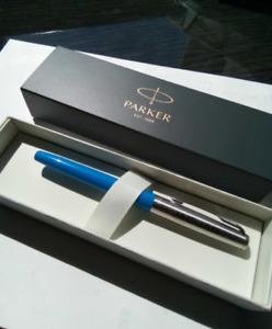 Rare Parker Jaguar Complimentary gift Fountain Pen  F Nib  Never Inked