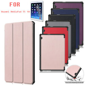 Flip PU Leather Stand Tablet Case Cover For Huawei MediaPad T5 10.1'' +Soft Film