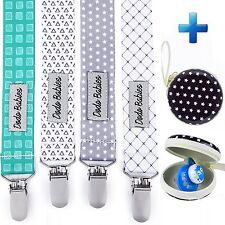 Pacifier Clip by Dodo Babies Pack of 4 PremiumQuality For Boys and Girls Leash