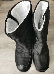 Elderly, Men's, Winter Fleece Boots, easy adjust, Size 10