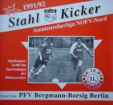Programm 1991/92 Eisenhüttenstädter FC Stahl - Bergmann Borsig Berlin