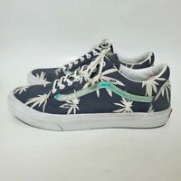 Vans Off The Wall Mens 11 Sneakers Blue 721454 Palm Tropical Skate Low Shoes