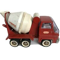 Vintage Tonka Cement Mix Red Mound MINN Dump Toy Truck Display White Metal Gas