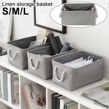 Linen Storage Basket Closet Book Laundry Hamper Toy Sundries Case Home Organizer