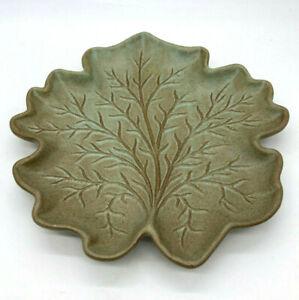 Beautiful Vintage MCM Mid Century Royal Haeger Blue Green Leaf Plate Platter WOW