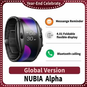 "4.01"" Foldable Flexible Screen Smart Watch Phone Snapdragon Bluetooth Calling"