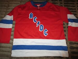 Malcolm Young #73 AC/DC Concert Promo Hockey Jersey M Medium Mens