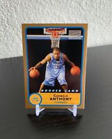 2003-04 Topps Bazooka Carmelo Anthony Gold Parallel Rookie Card #240