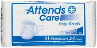 Attends Disposable Poly Briefs Medium 32''-44'' -Bag of 24