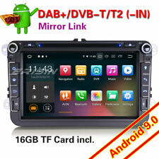 "8"" GPS Autoradio Android 9.0 For VW Passat CC Golf 5 6 Touran Jetta DAB+ OBD 3G"