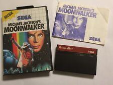 Michael JACKSON'S MOONWALKER SEGA Master System Juego + Caja instruir 'COMPLETO PAL