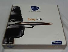 Ekornes Stressless Swing arm Round Brown Wood Table For Recliner Chair Open Box✔