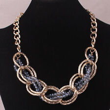 Fashion Style Gold Plated & Blue Beads Women Necklace Jewelry by Vicky Vardy