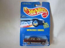 1991 Hot Wheels Maroon Mercedes-Benz 380 SEL Car #253 Card Ultra Hots Malaysia
